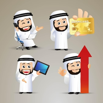 Pessoas definidas empresários financeiros árabes