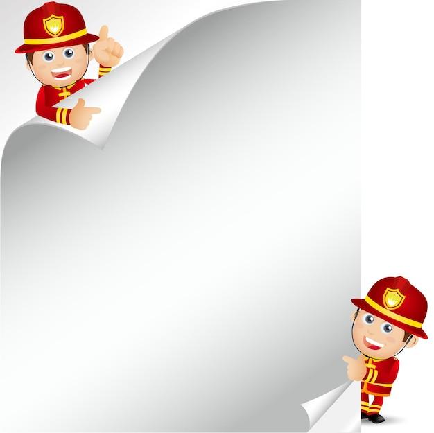 Pessoas definidas profissão de bombeiro