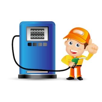 Pessoas definidas profissão menino gasolina