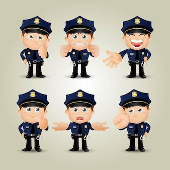 Pessoas definidas profissão policial