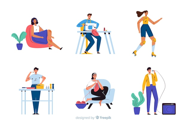 Pessoas, desfrutando, seu, tempo livre