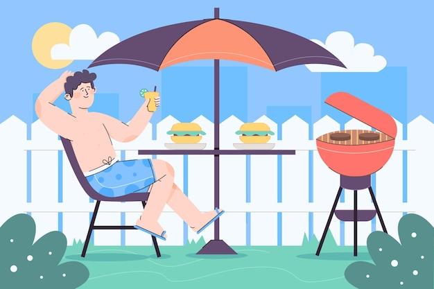 Pessoas desfrutando staycation