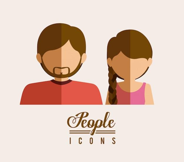 Pessoas design, ilustração vetorial.