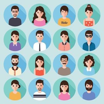 Pessoas diferentes em bolhas