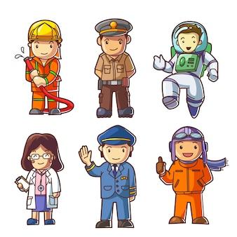 Pessoas diferentes profissões