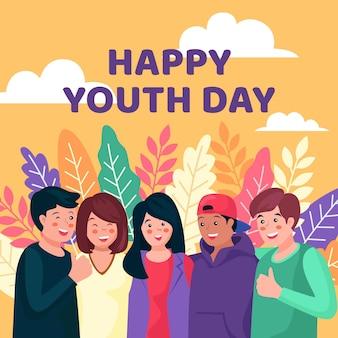 Pessoas do dia da juventude abraçando