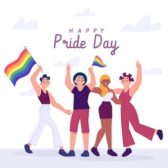 Pessoas do dia do orgulho