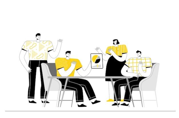 Pessoas do escritório em uma reunião