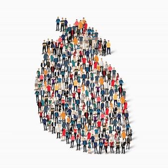 Pessoas do grupo formam o amor do coração