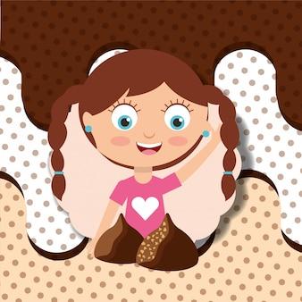 Pessoas doces de chocolate