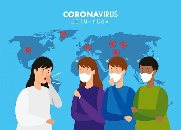 Pessoas doentes de coronavírus 2019 ncov
