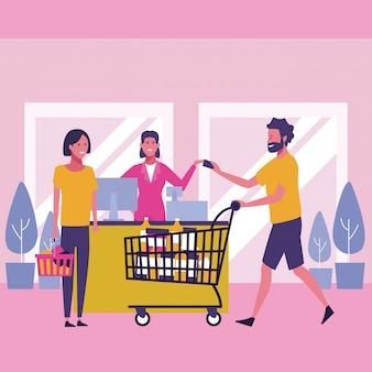 Pessoas e compras
