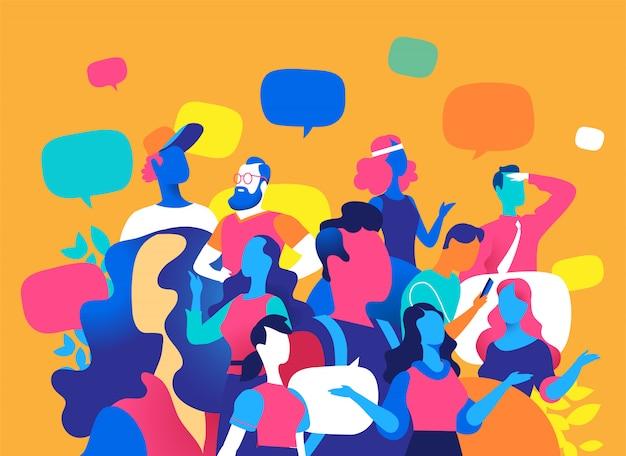 Pessoas e comunicação digital.