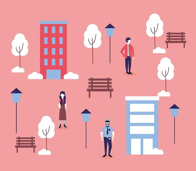 Pessoas e edifícios