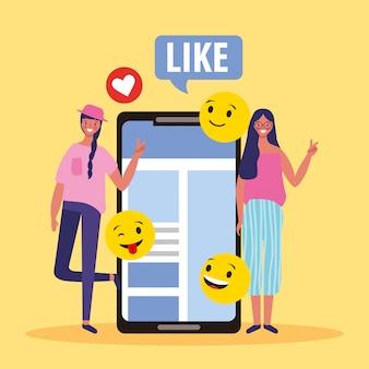 Pessoas e emojis