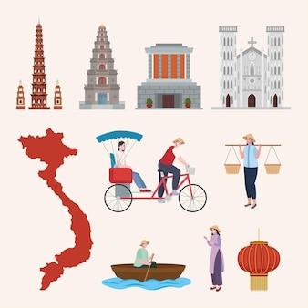 Pessoas e ícones do vietnã