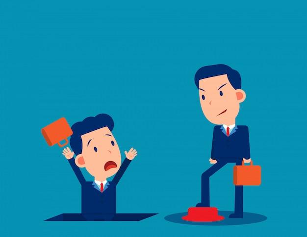 Pessoas e insegurança no trabalho. conceito de desempregados e demitidos de negócios