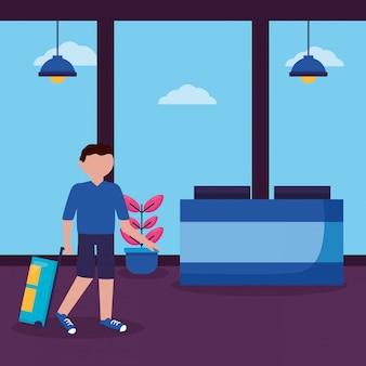Pessoas e viagens design plano