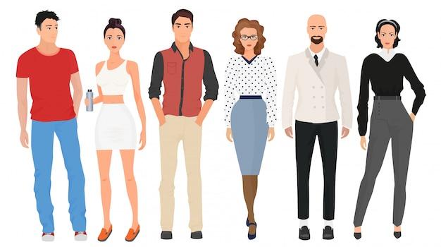 Pessoas elegantes de moda bonita