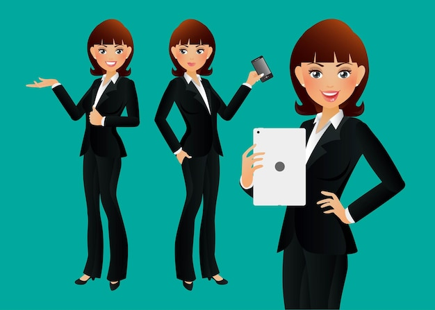 Pessoas elegantes mulher de negócios
