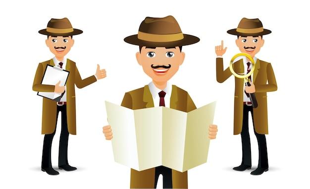 Pessoas elegantes. professional.detective