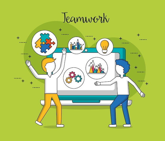 Pessoas em equipe