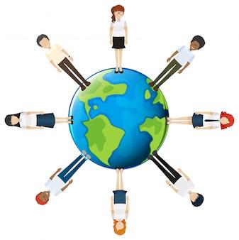 Pessoas em todo o mundo