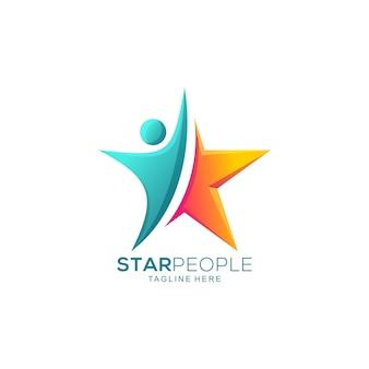 Pessoas estrela abstrata