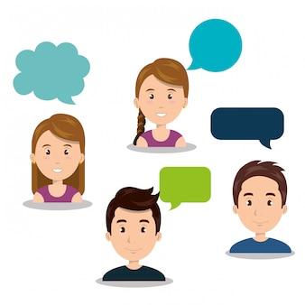 Pessoas falando de comunicação do discurso