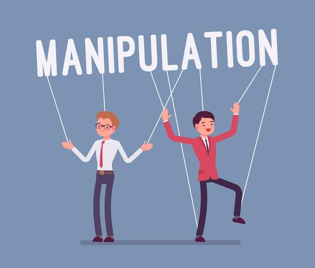 Pessoas fantoche manipulação de cordas