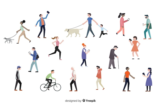 Pessoas fazendo ações diferentes