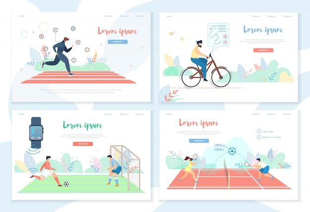 Pessoas fazendo atividade esportiva com smart gadgets