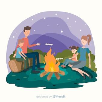 Pessoas, fazendo, atividades ao ar livre, fundo