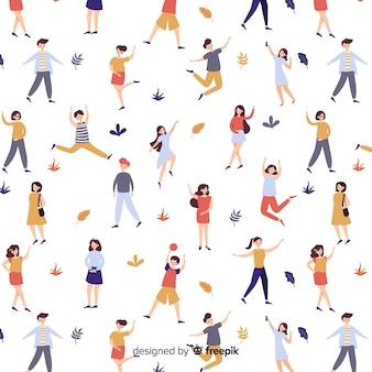 Pessoas, fazendo, atividades, padrão