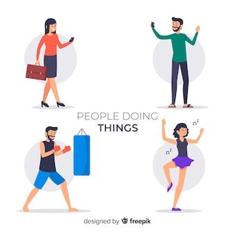 Pessoas, fazendo, coisas, cobrança