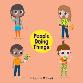 Pessoas fazendo coisas