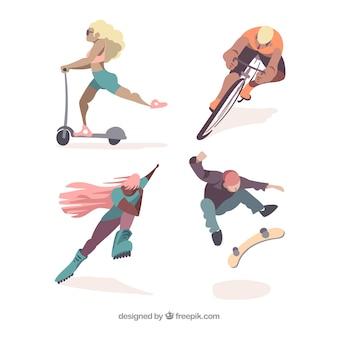 Pessoas, fazendo, jogo esporte