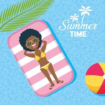 Pessoas, férias, verão, tempo