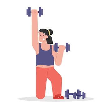 Pessoas fitness com haltere