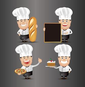 Pessoas fofas. profissional. chefe de cozinha