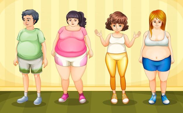 Pessoas gordas