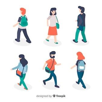 Pessoas indo para a universidade