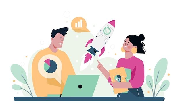 Pessoas iniciando um projeto de negócios juntas