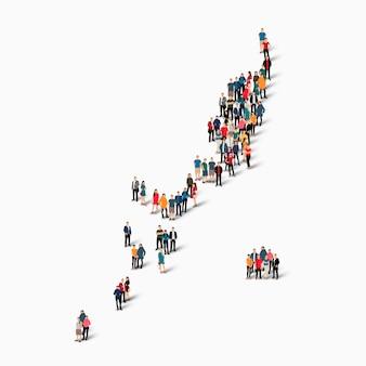 Pessoas isométricas formando mapa de palau