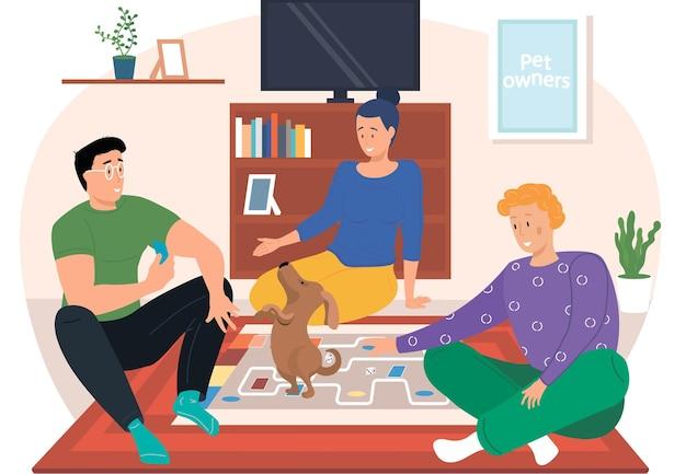 Pessoas jogando um jogo de tabuleiro em casa