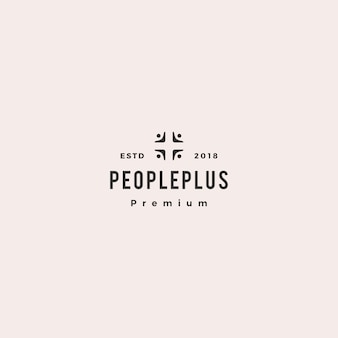 Pessoas, mais ícone de logotipo de grupo de cuidados de saúde da família