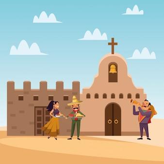 Pessoas mexicanas dos desenhos animados