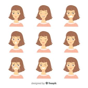 Pessoas, mostrando, emoções