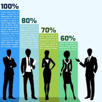 Pessoas negócio, infogrpahics