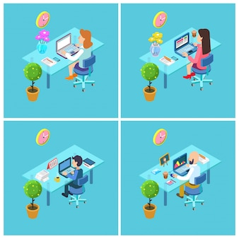 Pessoas negócio, no trabalho